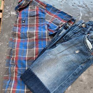 Quicksilver button down shirt & H&M jeans